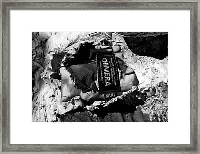 Man On The Move #21, B-w, Sat--5sep2015 Framed Print