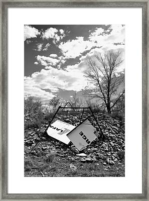 ''man On The Move No.6'', B-w, Thu--5may2016 Framed Print
