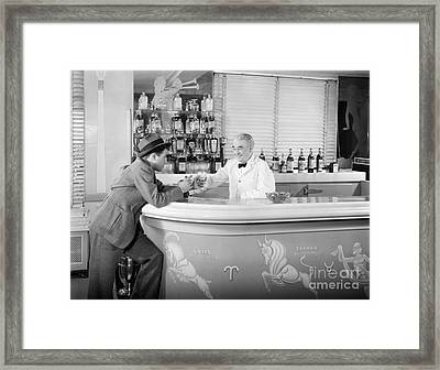 Man Ordering Another Drink, C. 1940s Framed Print
