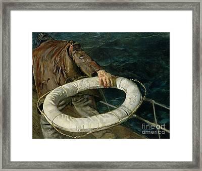 Man Overboard, 1906 Framed Print