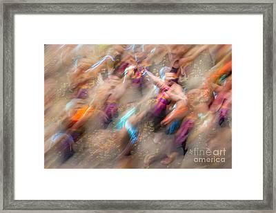 Man Overboard Framed Print