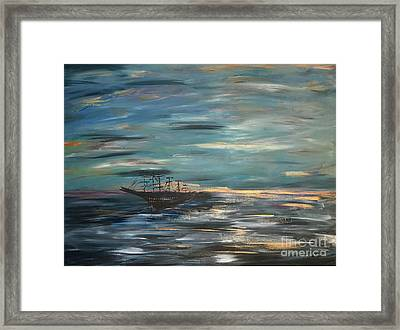 Man Overboard Part One Framed Print by Heather McKenzie