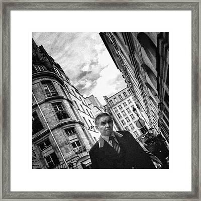 #man #portrait #streetportrait #people Framed Print by Rafa Rivas