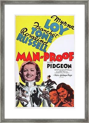 Man - Proof 1938 Framed Print