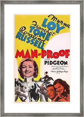 Man-proof 1938 Framed Print