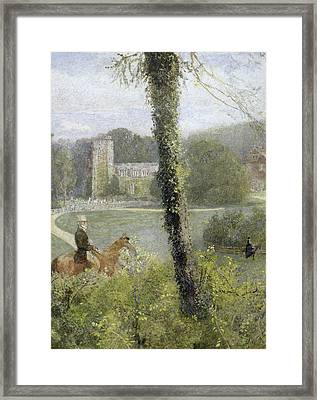 Man Riding To His Lady Framed Print