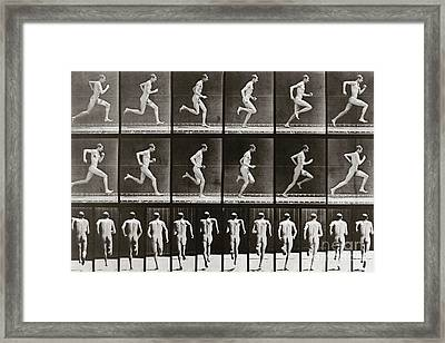 Man Running, Plate 62 From Animal Locomotion, 1887 Framed Print