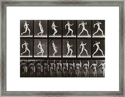 Man Running, Plate 7 From Animal Locomotion, 1887 Framed Print