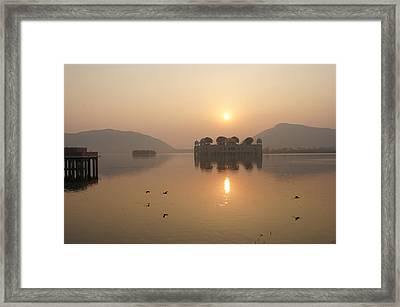 Man Sagar Lake Framed Print