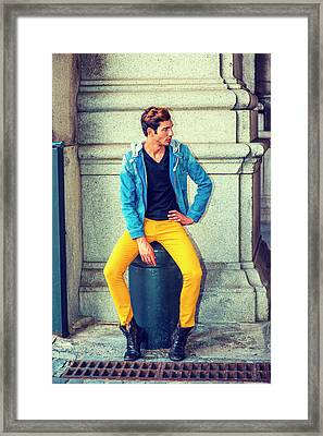 Man Street Fashion Framed Print