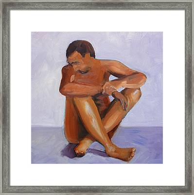 Man Study Framed Print