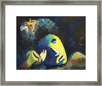 Man Taking Time For Reflection Framed Print by Suzanne  Marie Leclair