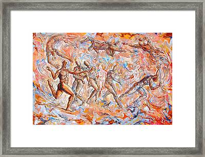 Man Unaware Of His Own Karma Framed Print by Darwin Leon