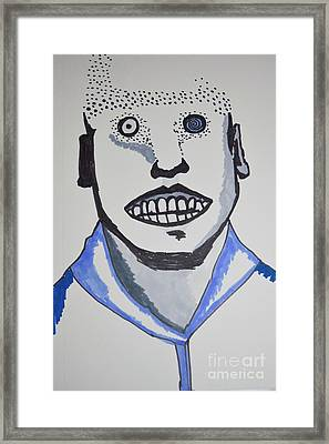 Man Vs Machine Framed Print by Lisa Kleiner