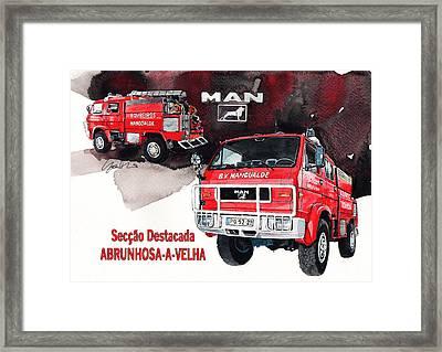 Man-vw 4x4 Fire Engine Framed Print by Yoshiharu Miyakawa
