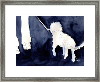 Man Walking His Dog 2.5 Framed Print