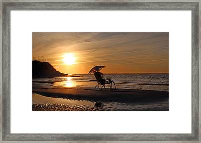 Man Who Can't Be Moved Framed Print