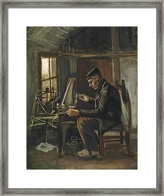 Man Winding Yarn, 1884 Framed Print