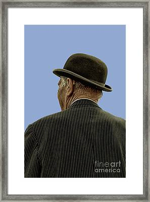 Man With A Bowler Hat Framed Print
