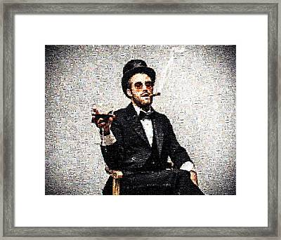 Man With A Cigar And A Glass Framed Print by James Jones