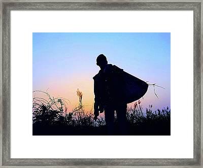 Man With Bag Framed Print