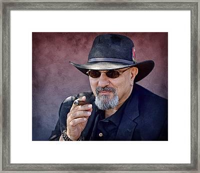 Man With Cigar Framed Print