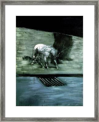 Man With Dog  Framed Print