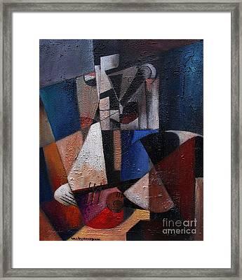 Man With Gitar Framed Print