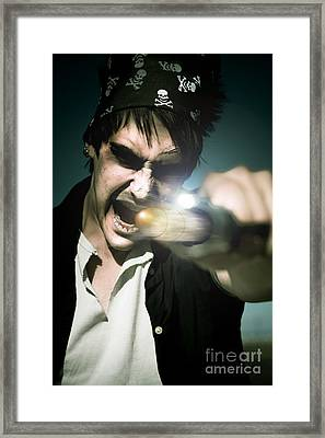 Man With Gun Framed Print by Jorgo Photography - Wall Art Gallery