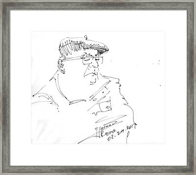 Man With Hat Framed Print