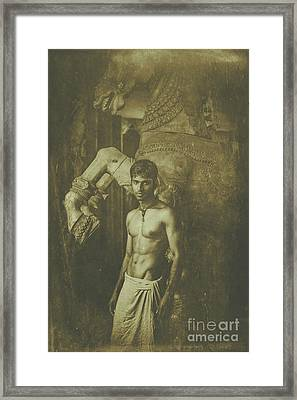 Man With Horse Framed Print by Andrew Adams