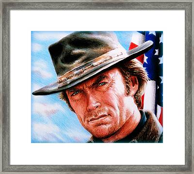 Man With No Name Colour Framed Print by Andrew Read