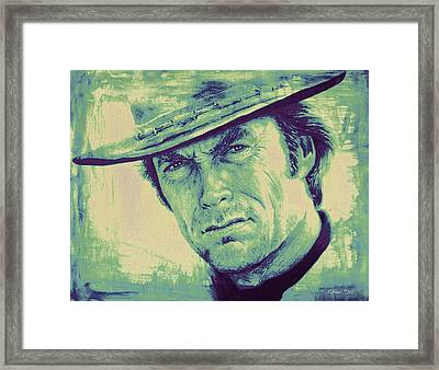 Man With No Name Colour Splash Framed Print by Andrew Read