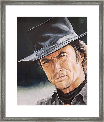 Man With No Name Framed Print by Kenneth Kelsoe