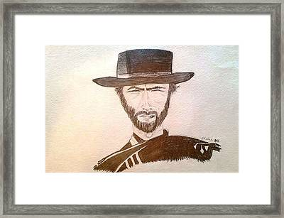 Man With No Name Framed Print by Michele Moore