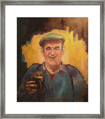 Man With Pint. Framed Print