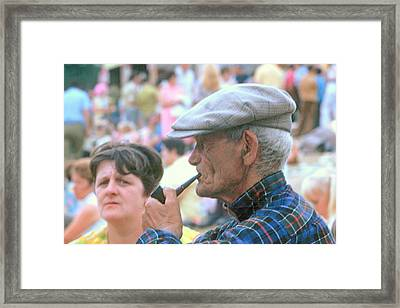 Framed Print featuring the photograph Man With Pipe by Douglas Pike
