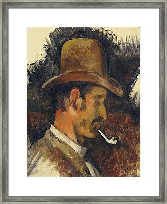 Man With Pipe Framed Print by Paul Cezanne