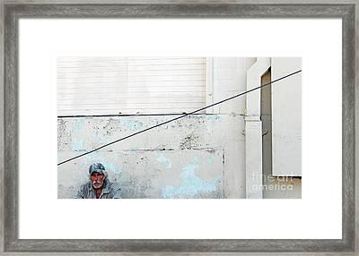 Man With Striped Shirt Framed Print by Joe Jake Pratt