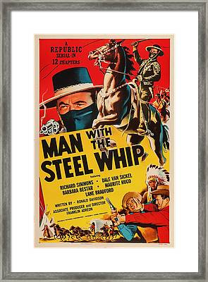 Man With The Steel Whip 1954 Framed Print by Mountain Dreams
