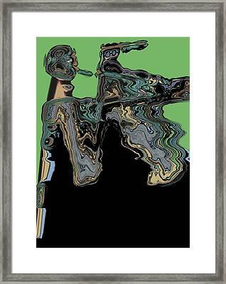 Man Woman Framed Print by LeeAnn Alexander