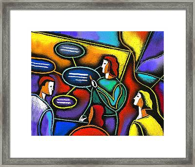 Framed Print featuring the painting Manager  by Leon Zernitsky