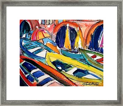 Manarola Cinque Terre Memory Framed Print by Therese Fowler-Bailey