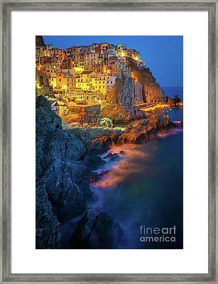 Manarola Lights Framed Print by Inge Johnsson