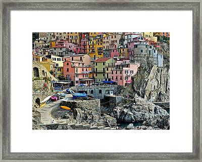 Manarola Up Close Framed Print by Frozen in Time Fine Art Photography