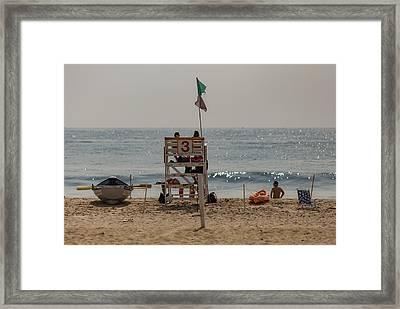 Manasquan Beach Framed Print
