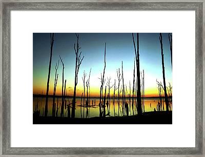 Manasquan Reservoir At Dawn Framed Print
