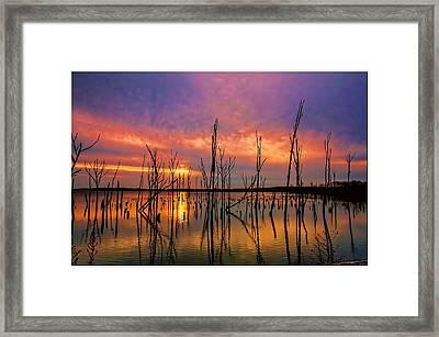 Manasquan Sunrise In New Jersey Framed Print