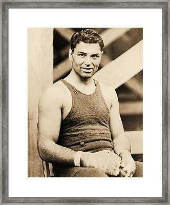 Manassa Mauler Framed Print by Pg Reproductions