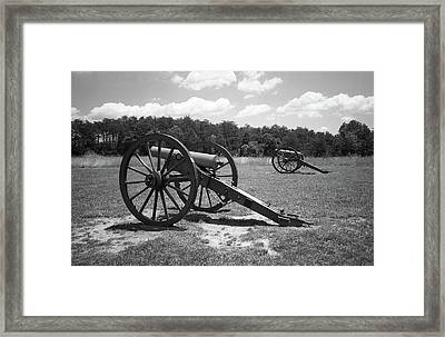 Framed Print featuring the photograph Manassas Battlefield 2 Bw by Frank Romeo